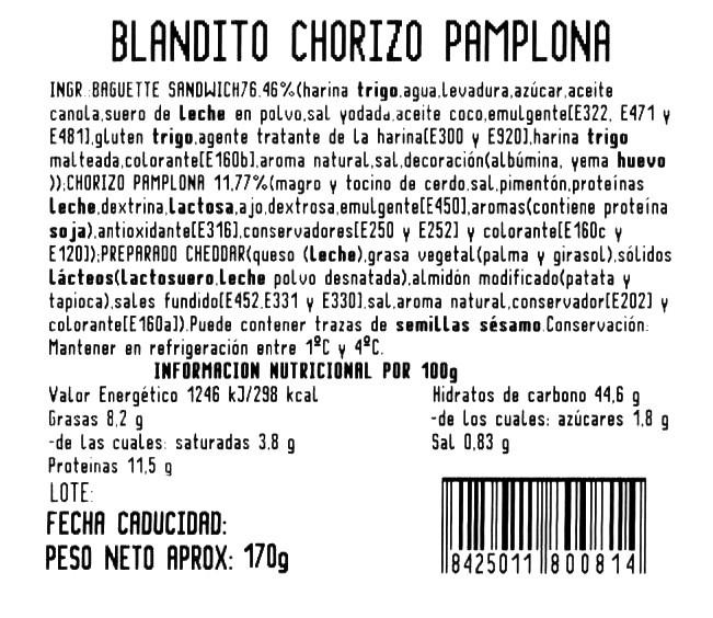 Blandito chorizo y queso