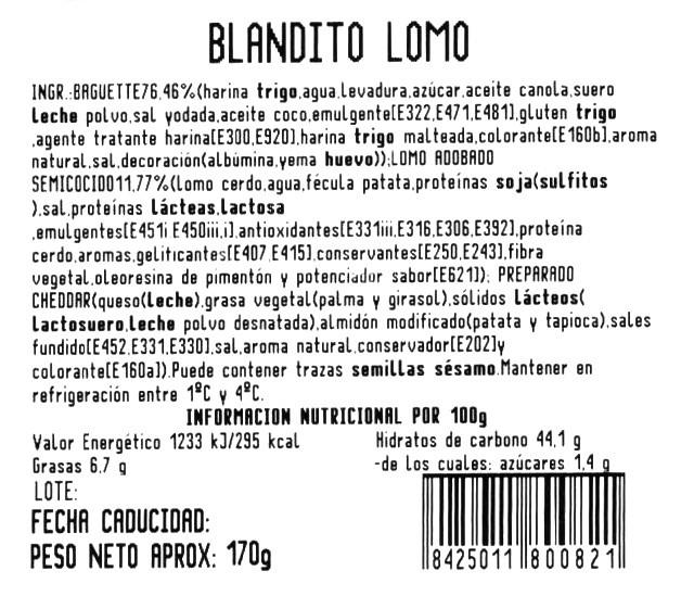 Blandito lomo y queso