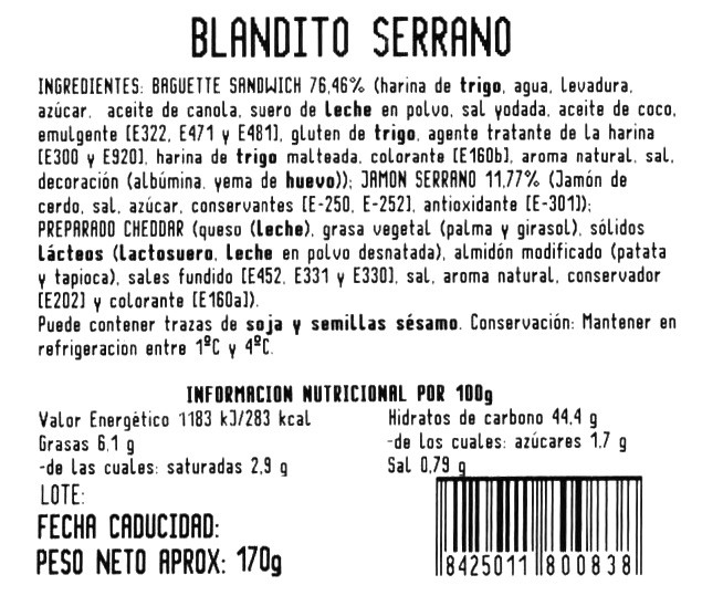 Imagen de Blandito serrano y queso