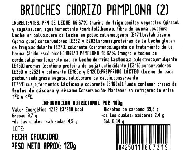 Imagen de Brioche chorizo y queso