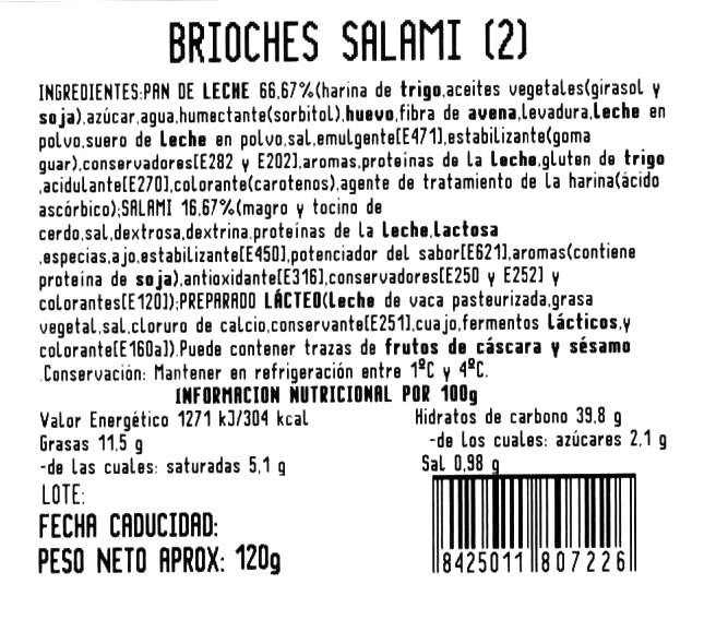 Imagen de Brioche salami y queso