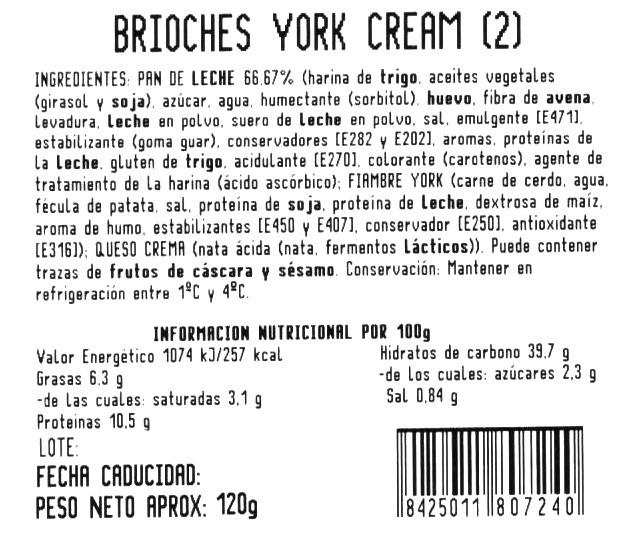 Imagen de Brioche york y queso